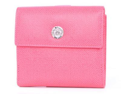 シャネル コピー財布lwcha50143fpk クルーズライン CCボタン 二つ折財布