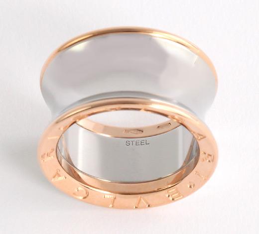 ブルガリ BVLGARI アニッシュ・カプーア ビーゼロワン リング(指輪) ピンクゴールド&シルバー AN855685