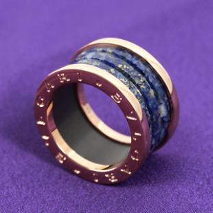 ブルガリ ビーゼロワン リング【指輪】 ラピスブルー&ピンクゴールド【4バンド】 AN856222