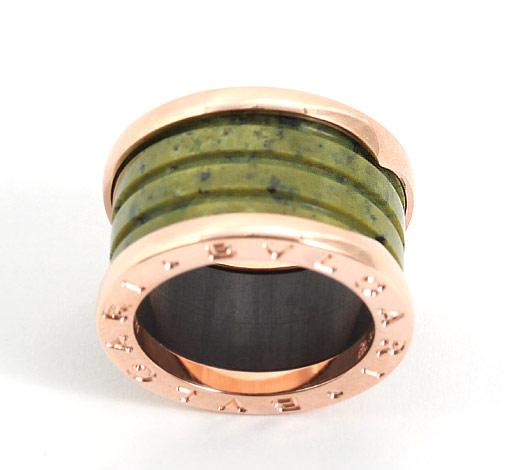 ブルガリ ビーゼロワン リング【指輪】 ボーエナイトグリーン&ピンクゴールド【4バンド】 AN856221