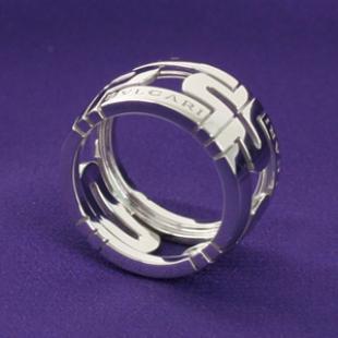 ブルガリスーパーコピー 代引き 通販おすすめニューパレンテシ オープンワーク ラージバンド リング(指輪) ホワイトゴールド AN853974