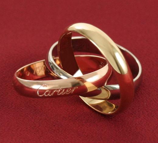 カルティエ Cartier トリニティ 3G リング(指輪) SM PG YG WG B4052700