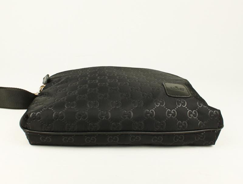 ブラック 298607 GUCCIグッチ Gucci布革 男性 ショルダーバッグ メッセンジャーバッグ