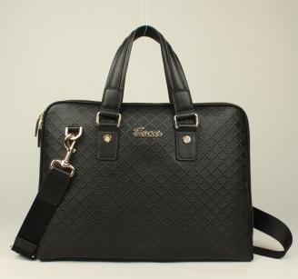 Gucciフルレザー ブラック 300331 GUCCIグッチ 男性 ハンドバッグ メッセンジャーバッグ