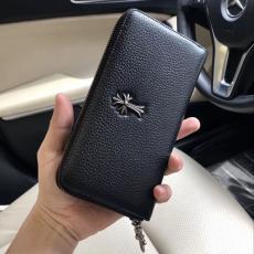 ブランド可能クロムハーツ Chrome Hearts 黒色 長財布 値下げ CH111201